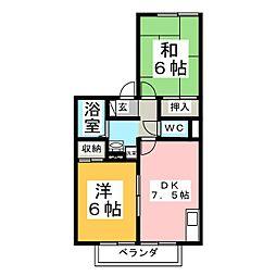 ディアコート加茂A[1階]の間取り
