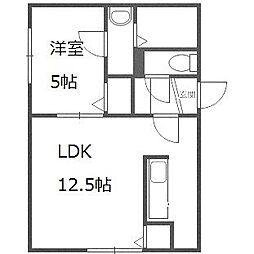 A BOND豊平[4階]の間取り