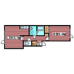 フォレストセブン[1階]の間取り