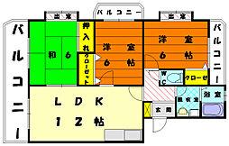 ルミエール土井[1階]の間取り