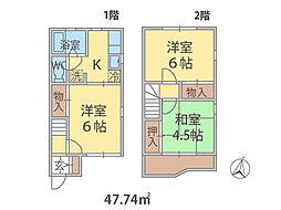 埼玉県八潮市新町の賃貸アパートの間取り