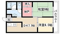 愛知県名古屋市瑞穂区彌富町字緑ケ岡の賃貸マンションの間取り