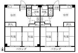 コーポ鶴場[305号室]の間取り
