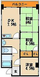 ケイズコート 西明石[2階]の間取り