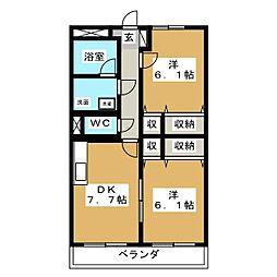 リーベカマイIII[2階]の間取り