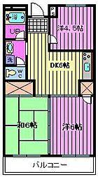 第2渡辺レヂデンス[2階]の間取り