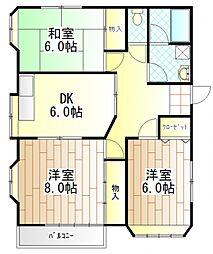 愛川パレスD[2階]の間取り