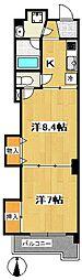 小田原ウェルコート[1階]の間取り