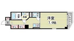 兵庫県神戸市東灘区本山北町2丁目の賃貸マンションの間取り