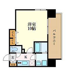 プレサンス THE 栄 6階1Kの間取り