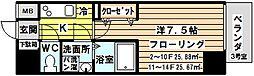 レジュールアッシュ北大阪グランドステージ[403号室]の間取り