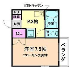 ルネス桜井[2階]の間取り