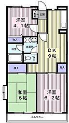サンハイム笹堀[5階]の間取り