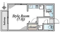 埼玉県さいたま市南区文蔵3丁目の賃貸アパートの間取り