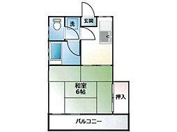 第二祥栄荘[2階]の間取り