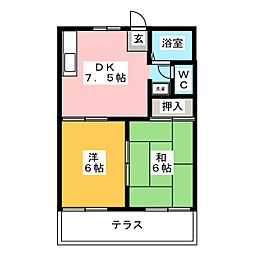 京B-FREE[1階]の間取り