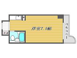 東京都文京区本郷1丁目の賃貸マンションの間取り