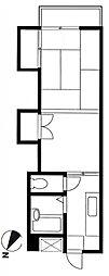 コーポ峰岡[2階]の間取り