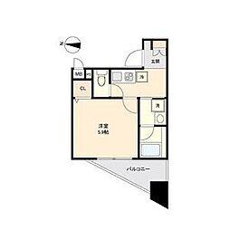 名古屋市営東山線 新栄町駅 徒歩10分の賃貸アパート 3階1Kの間取り