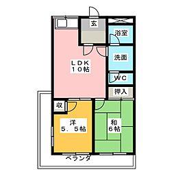 メゾンド相川[2階]の間取り