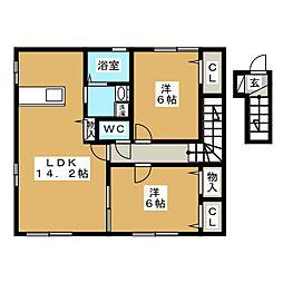グランモア21[2階]の間取り