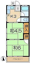 第2コーポ気賀澤[2階]の間取り