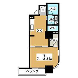 静岡常磐町エンブルコート[7階]の間取り