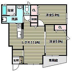 GOLEIRO藏 SAYAMA[1階]の間取り