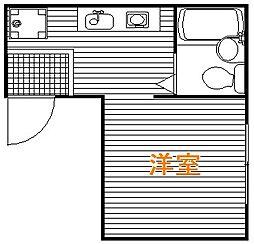 東京都豊島区北大塚3丁目の賃貸アパートの間取り