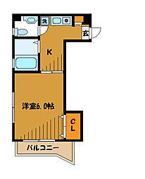 東京都国分寺市内藤の賃貸マンションの間取り