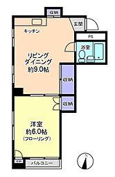 ミドリヤサニーマンション[402号室]の間取り