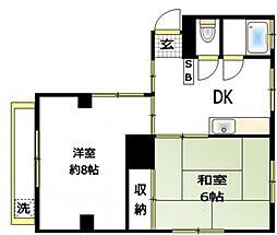第5木下ビル[4階]の間取り