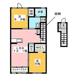 シエルクレール[2階]の間取り