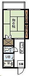 渡辺コーポ[205号室]の間取り