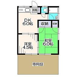 東京都練馬区西大泉4丁目の賃貸アパートの間取り