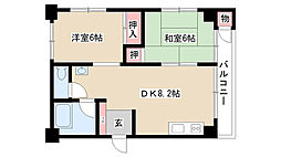愛知県名古屋市昭和区西畑町の賃貸マンションの間取り