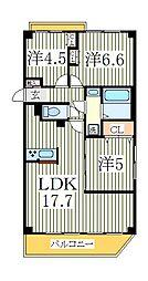 サンタバレー弐番館[1階]の間取り