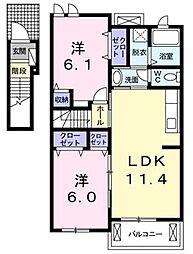 グリーンアヴェニュー[2階]の間取り