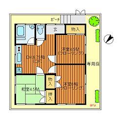[一戸建] 東京都三鷹市井の頭2丁目 の賃貸【東京都 / 三鷹市】の間取り