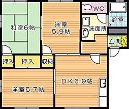 フレグランスM A棟[1階]の間取り