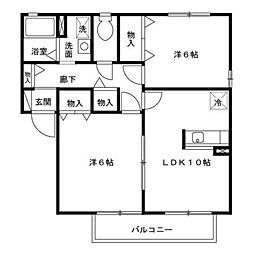 ファミール A/B[1階]の間取り