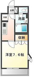 香川県丸亀市原田町の賃貸アパートの間取り