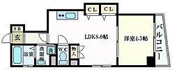 JR山陽本線 広島駅 徒歩4分の賃貸マンション 3階1LDKの間取り