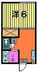 稲荷山ハイツ[2-D号室]の間取り