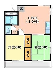 神奈川県川崎市高津区末長の賃貸マンションの間取り
