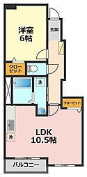 東京都葛飾区奥戸9丁目の賃貸アパートの間取り