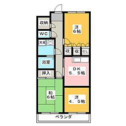 シズコーポ[3階]の間取り