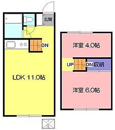 [テラスハウス] 東京都東久留米市前沢4丁目 の賃貸【/】の間取り