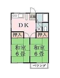 サンハイム堀江I[1階]の間取り