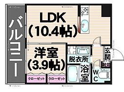 アバンダントsanchiku[2階]の間取り